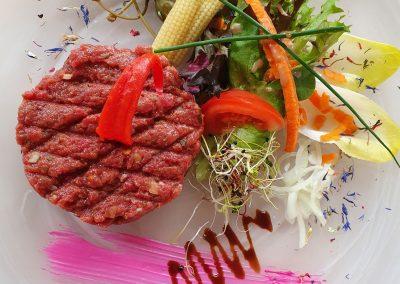 Bild von unserem Beefsteak-Tatar vom Swiss Gourmet Beef