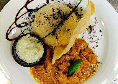 Bild von unserem einmaligen tamilisches Poulet-Curry Gericht