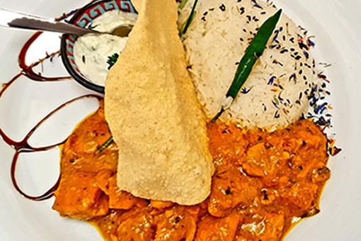Tamilisches Poulet-Curry Gericht